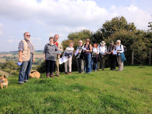 CBA Wessex members on a walk near Rockbourne, Hampshire