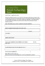 Grant Fund Application form - Thumbnail