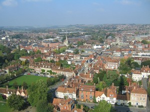 Salisbury - a view from the cathedral tower