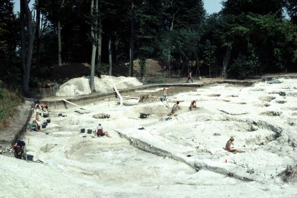 Danebury - digging in full swing - 1984